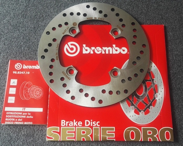Brembo Bremsscheibe Hinten Kawasaki Er 6 Fn Bj06 10